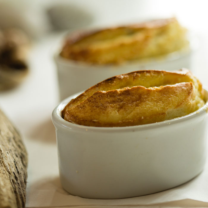 Classic Cheese Souffle with Coastal Cheddar